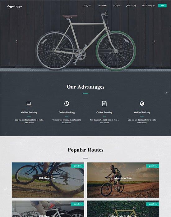 طراحی وب سایت مجید اسپرت