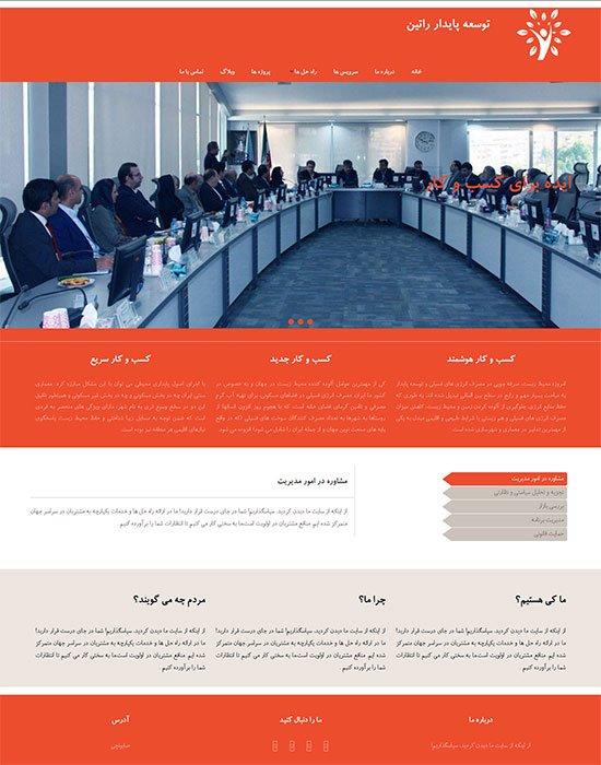 طراحی سایت شرکت توسعه پایدار راتین